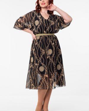 Шифоновое вечернее платье - золотое Wisell