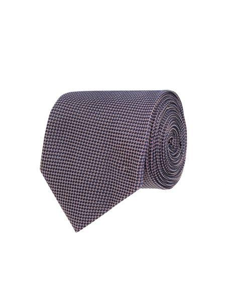 Fioletowy klasyczny krawat z jedwabiu Hugo