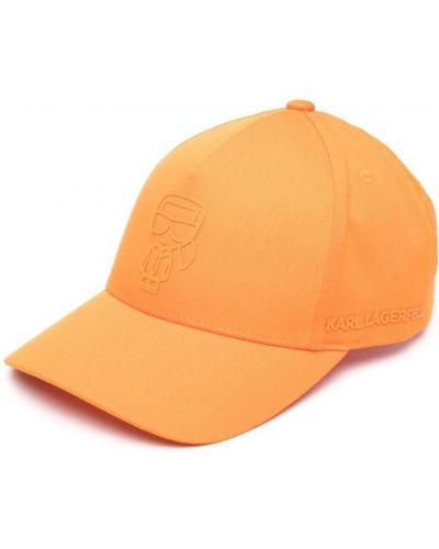 С ремешком бейсбольная оранжевая бейсболка Karl Lagerfeld