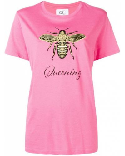 Футбольная розовая футболка со стразами Quantum Courage