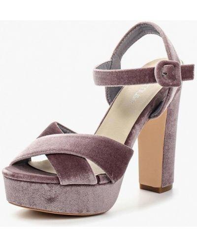 Фиолетовые босоножки на каблуке Chicmuse