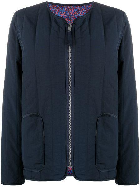 Стеганая синяя куртка на молнии Kenzo
