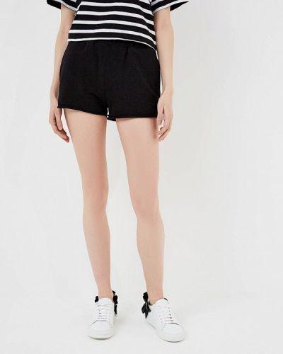 Спортивные шорты черные итальянский Forte Couture