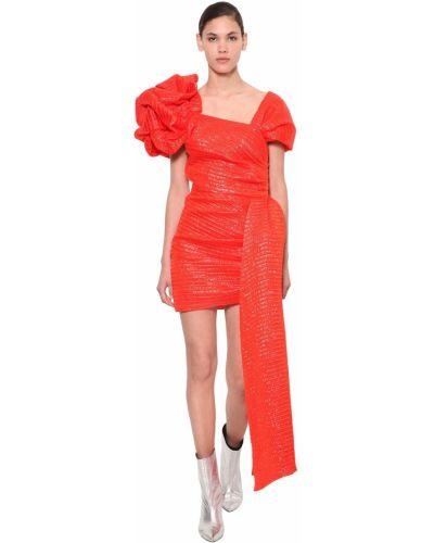 Sukienka mini asymetryczna krótki rękaw Annakiki