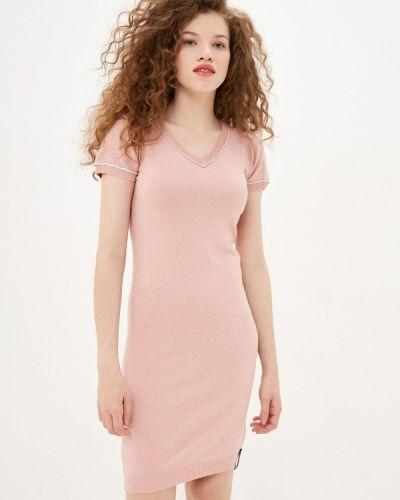Платье-футболка - розовое Sh