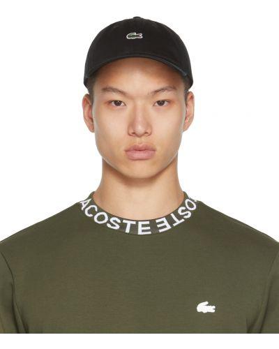 Кожаная кепка - белая Lacoste