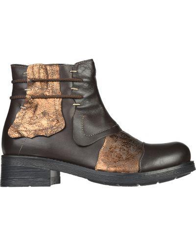 Кожаные ботинки - коричневые L'estrosa