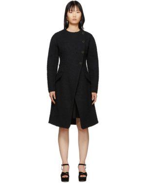 Длинное пальто без воротника букле Proenza Schouler