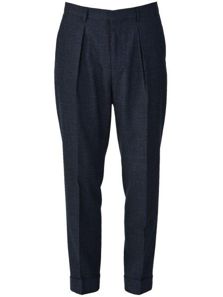 Шерстяные брюки - синие Hugo Boss