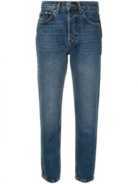 Синие с завышенной талией прямые джинсы Anine Bing
