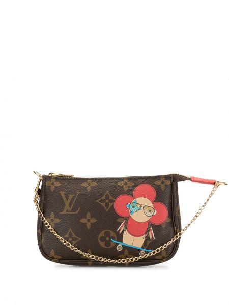 С ремешком кожаный клатч на цепочке на молнии Louis Vuitton