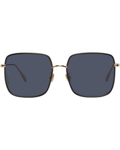 Синие солнцезащитные очки прозрачные квадратные Dior