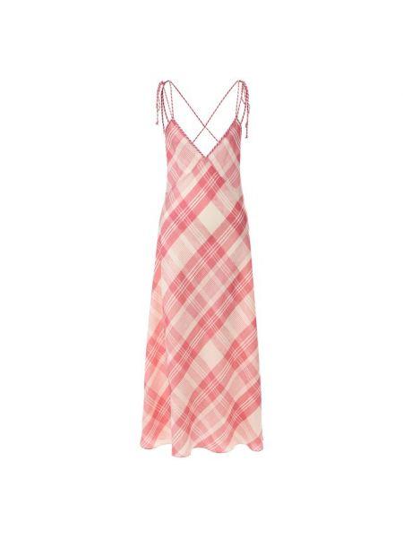 Платье миди с открытой спиной в клетку Polo Ralph Lauren