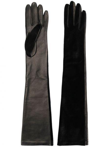 Перчатки длинные кожаные Manokhi