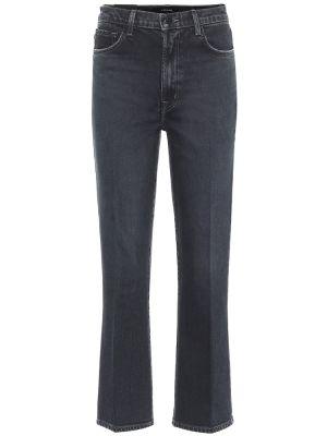 Расклешенные ватные хлопковые темно-синие расклешенные джинсы J Brand