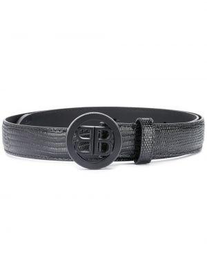 Кожаный черный ремень с пряжкой с поясом Balenciaga