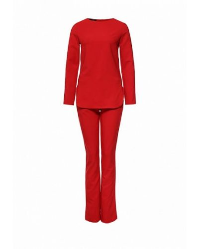 Брючный костюм домашний красный Sk-house