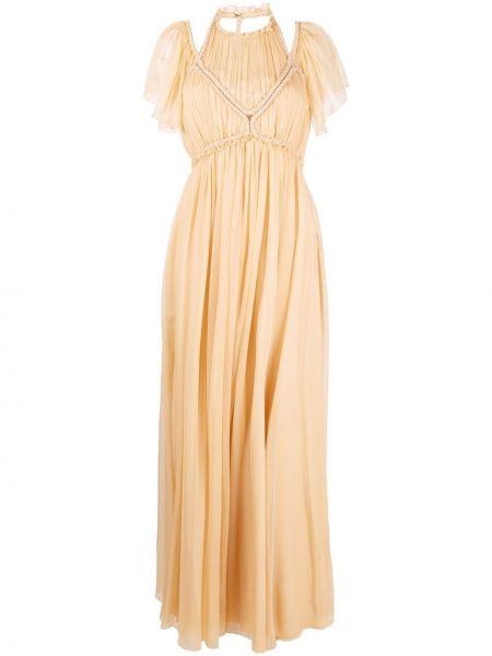 Шелковое вечернее платье Alberta Ferretti
