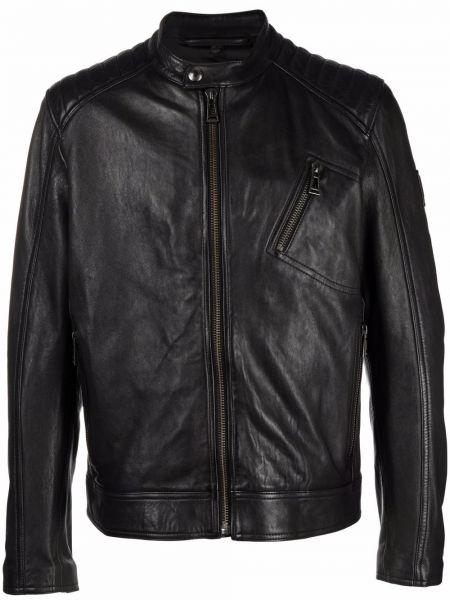 Черная куртка с воротником Belstaff