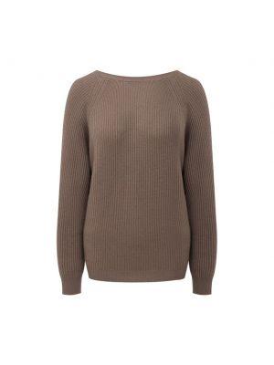 Трикотажный пуловер - бежевый Allude