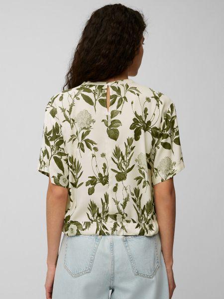 Зеленая блузка с короткими рукавами Marc O'polo Denim