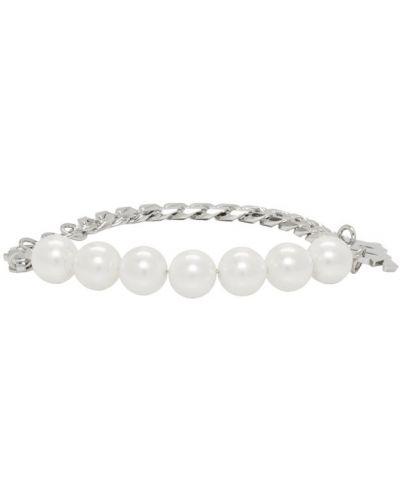 Bransoletka łańcuch z perłami Misbhv