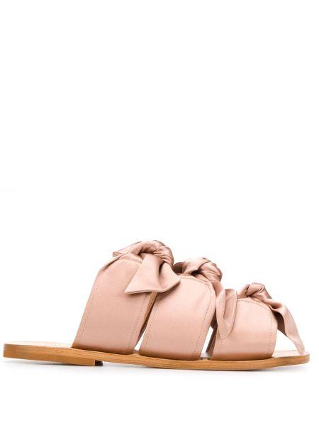 Sandały skórzany różowy Gia Couture