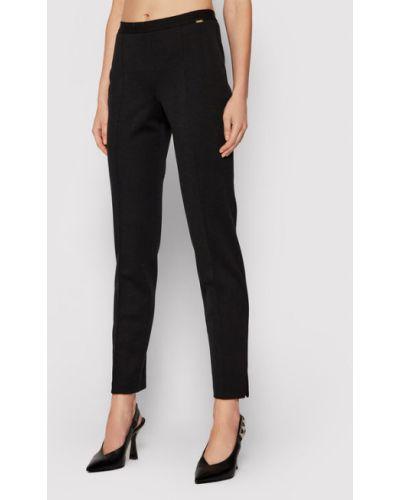 Czarne spodnie materiałowe Luisa Spagnoli