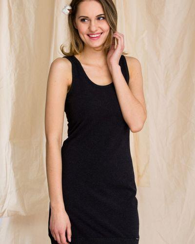 Хлопковое платье - черное Key