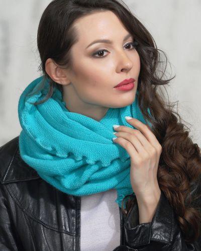 Голубой шарф шерстяной Vay