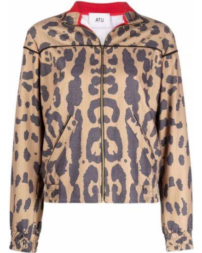 Коричневая длинная куртка Atu Body Couture