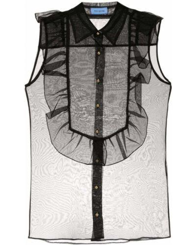 Блузка без рукавов прозрачная черная Macgraw