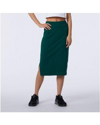 Зеленая юбка с люрексом New Balance