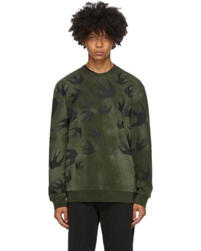 Zielony bluza z długimi rękawami z mankietami z kołnierzem Mcq Alexander Mcqueen