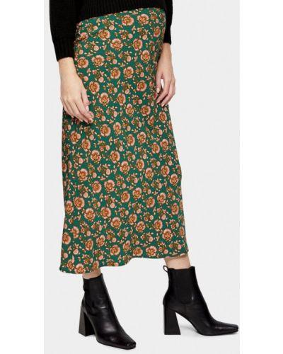 Зеленая юбка для беременных Topshop Maternity