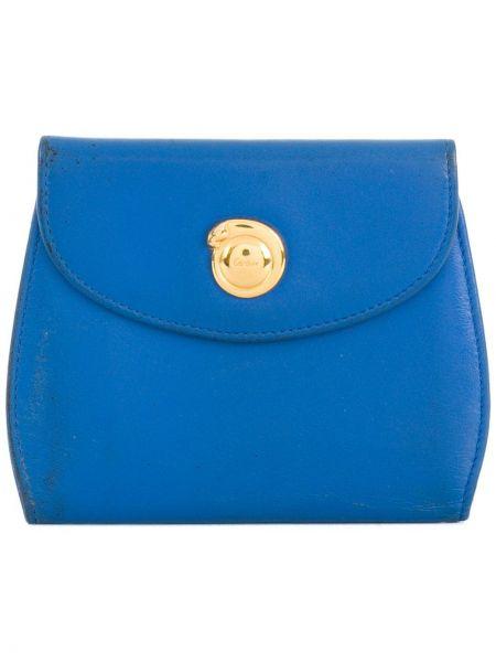 Синий кожаный кошелек винтажный Cartier Pre-owned