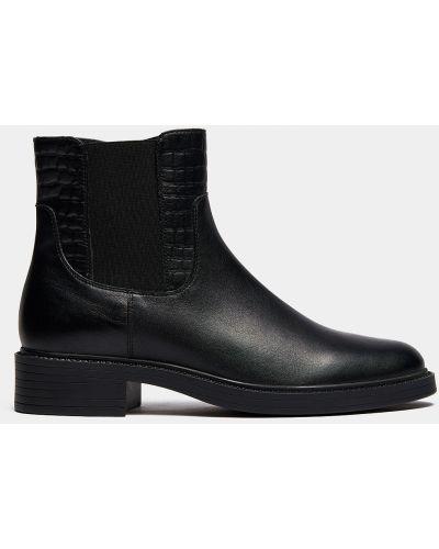 Черные кожаные ботинки на каблуке Ralf Ringer