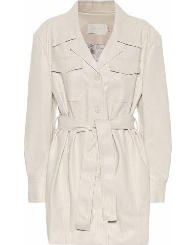 Белая кожаная куртка Low Classic