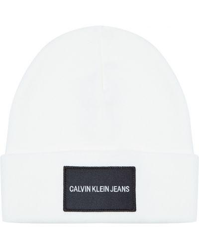 Вязаная шапка с отворотом хлопковая Calvin Klein