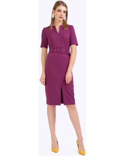 Приталенное платье миди - фиолетовое Emka