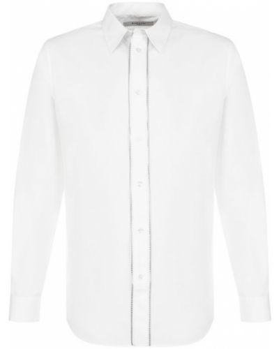 Джинсовая рубашка с длинным рукавом на молнии Givenchy