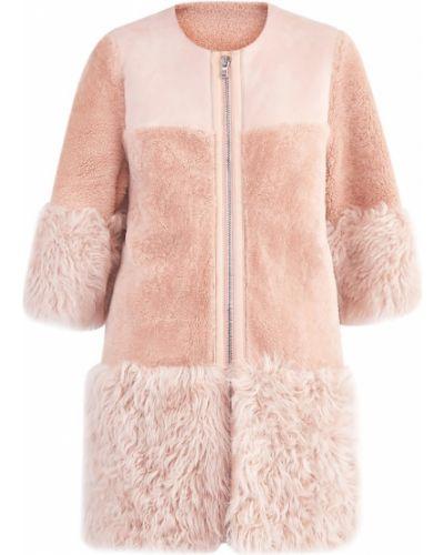 Укороченное пальто из овчины кожаное Red Valentino
