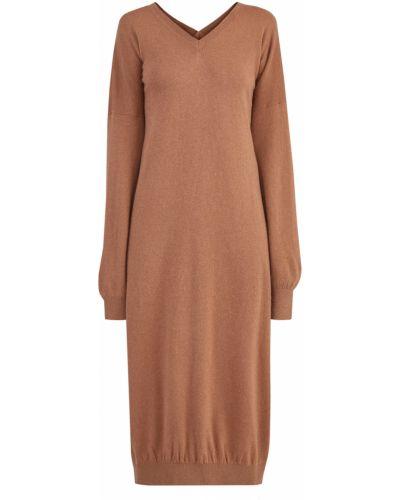 Платье миди с V-образным вырезом в рубчик Stella Mccartney