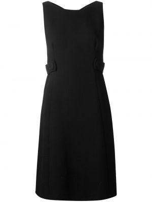 Приталенное платье с V-образным вырезом винтажное с драпировкой Prada Pre-owned