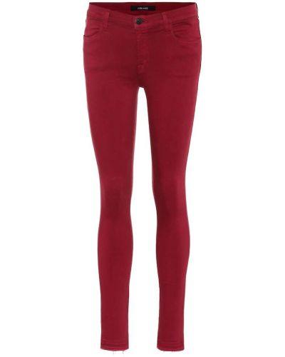 Зауженные фиолетовые джинсы-скинни с пайетками J Brand