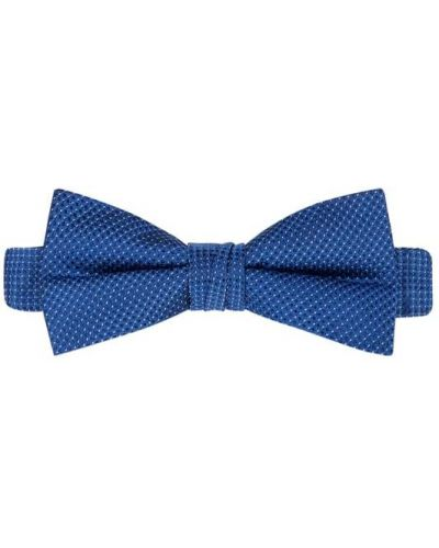 Niebieska mucha z jedwabiu Ck Calvin Klein
