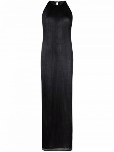 Sukienka długa z jedwabiu - czarna Givenchy