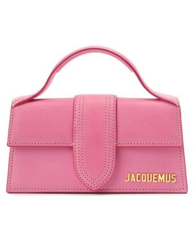 Розовый кожаный топ с карманами Jacquemus