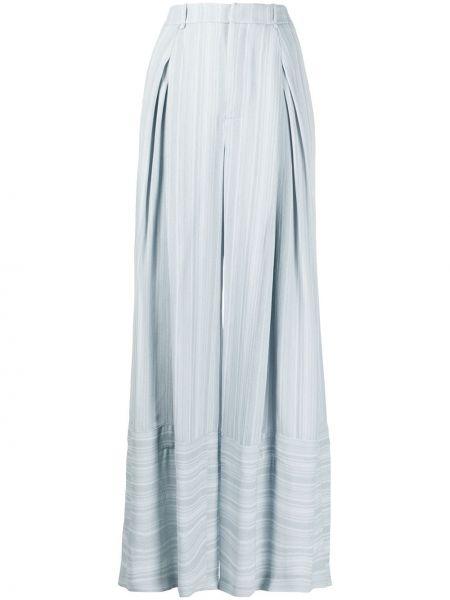 Свободные брюки в полоску со складками Roland Mouret