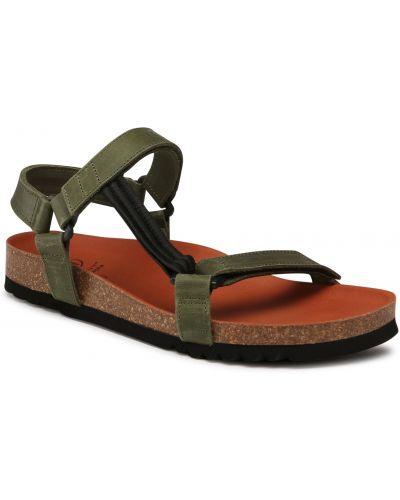 Sandały skórzane - zielone Scholl